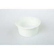 Small round dish white
